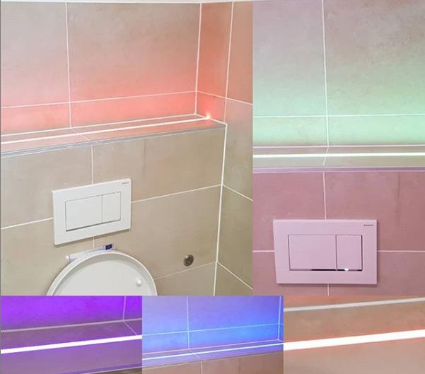 Lichteffekte im Badezimmer mit Constaled Stripes